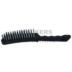 BRUSH WIRE 6 ROW WITH PLASTIC HANDLE