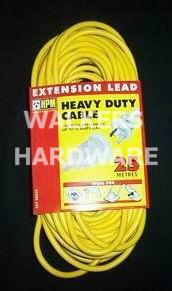 EXT LEAD HPM H/DUTY 10AX 25M YELLOW