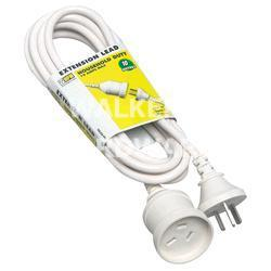 EXT LEAD - HPM PIGGYBACK 10A X 10M WHITE