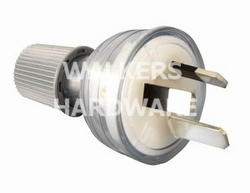 PLUG TOP - HPM STANDARD 3PIN 10A CLEAR