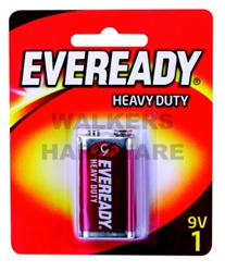 BATTERY - EVEREADY H/DUTY RED 9 VOLT