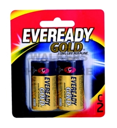 BATTERY - EVEREADY LONG LIFE GOLD C PK2 A93BP2