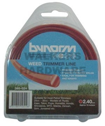TRIMMER LINE RED 2.40MM X 15M
