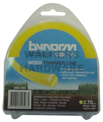 TRIMMER LINE YELLOW 2.75MM X 20M