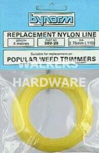 TRIMMER LINE YELLOW 2.70MM X 12M