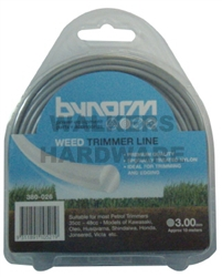 TRIMMER LINE GREY 3MMX4M
