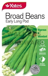 SEED VEGETABLE BEANS BROAD EARLY LONG POD (P)