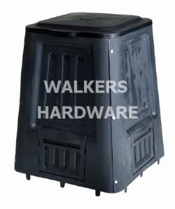 COMPOST BIN 220L (SQUARE BLACK)