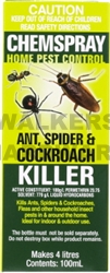 INSECTICIDE ANT/SPIDER/ROACH 100ML