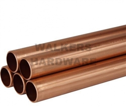 COPPER PIPE 12.70MM X 1M TYPE B BLUE (HARD DRAWN)