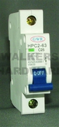 CIRCUIT BREAKER 50AMP 6KA 1 POLE