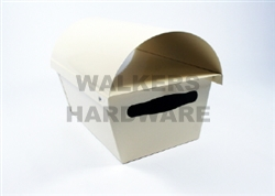 LETTERBOX METAL DOME CREAM