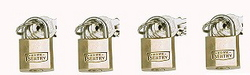 PADLOCK BRASS 20MM HOME  SENTRY PK4
