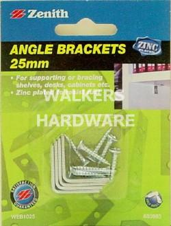 BRACKET ANGLE ZP 25MM HPK