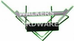 BRACKET L/STAYED 250X200MM