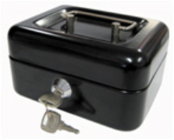 CASH BOX BLACK 150MM SANDLEFORD