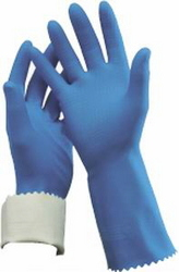 GLOVE RUBBER FLOCK LINED 7-71/2