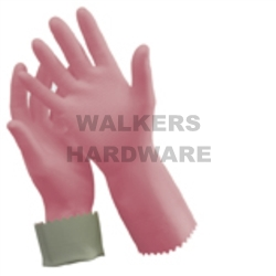 GLOVES RUBBER SILVER LINED #9-9 1/2