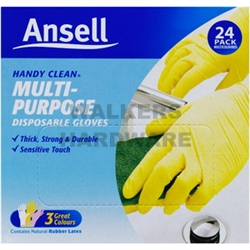 GLOVES DISPOSABLE LATEX PK24