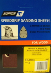 SHEET GRIP SPEED CRSE 5  HOLE 140X95MM