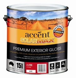 ACCENT SOLARMAX GLOSS  ACRYLIC EXT WHITE 4L