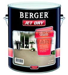 BERGER JET DRY GLOSS FERRIC RED 10L