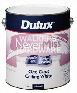 DULUX CEILING PAINT ONE COAT NEVER MISS 4L