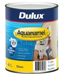 DULUX AQUANAMEL HIGH GLOSS WHITE 1L