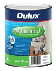 DULUX AQUANAMEL SEMI GLOSS WHITE 1L
