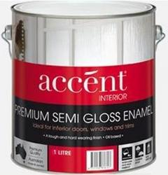 ACCENT SEMI GLOSS ENAMEL INTERIOR WHITE 1L