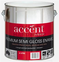 ACCENT SEMI GLOSS ENAMEL WHITE 4L