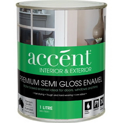 ACCENT SEM GLOSS ENAMEL INT & EXT WHITE 1L