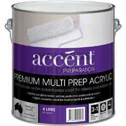 ACCENT MULTI PREP ACRYLIC WHITE 4L