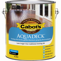 CABOTS AQUADECK DECKING EXT NEW NATURAL 4L W/B