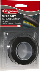 TAPE WELD SELF AMALGAMATING BLACK 25MM X 3M