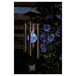 WIND CHIME WITH SOLAR LIGHT (COPPER)
