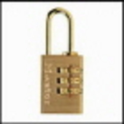 PADLOCK MASTER BRASS R'SET COMBO 20MM