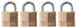 PADLOCK MASTER BRASS 20MM 4PK