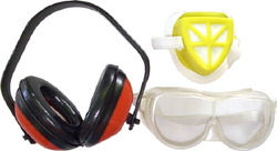 EAR MUFF AND FILTER MASK GOOGLE