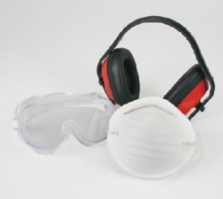 SAFETY KIT EARMUFF/GOGGLE/DUST MASKS