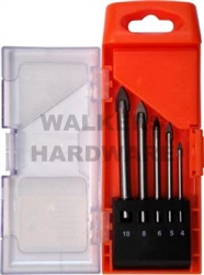 BIT DRILL SET GLASS 5 PCE