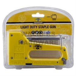 STAPLE GUN LIGHT DUTY 0.7MMX4-8MM PLASTIC BODY