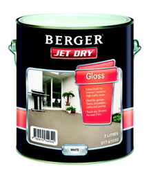 Berger Jet Dry Gloss White 2l Paint Paints Interior And Exterior Walkers Online Hardware