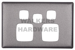 COVER PLATE POWERPOINT DOUBLE EXTRA SWITCH - LINEA