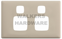 COVER PLATE FOR DOUBLE POWERPOINT (LINEA) GREY