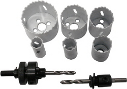 HOLE SAW SET BI METAL 6PC
