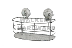 BASKET OVAL MESH CHROME WIRE