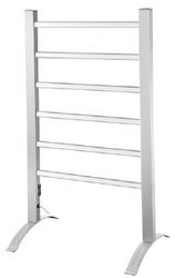 TOWEL RAIL HEATED 6 BAR ALUMINIUM