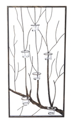 DECOR METAL WALL ART FRAMED BRANCH