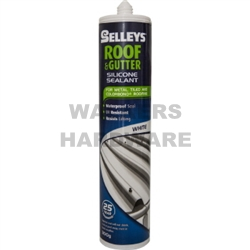 ROOF & GUTTER SILICONE WHITE 300G